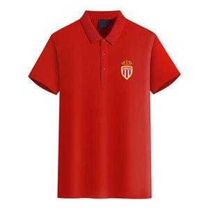 Ассоциация Sportive де Монако ФК Логотип футбольного клуба мужской моды Golf Polo Футболка мужская с коротким рукавом поло футболки