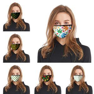Folha 3D imprimir Designer máscara de algodão rosto reutilizável máscaras Out Door Esporte equitação máscaras de algodão Designer Máscara DHB267