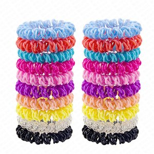Trendy Three Cross Telephone Wire Cord Headbands for Women Elastic Plastic Hair Bands Rubber Ropes Hair Ring Girls Hair Accessories D62801