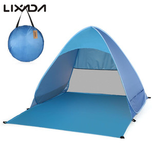 Lixada automatique instantanée jusqu'à la plage Tente légère protection UV extérieure tente de camping pêche Cabana Sun Shelter