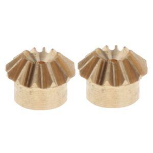 2adet 0.4 Modülü Pirinç Konik Dişli 12 Diş 1mm İç Delik