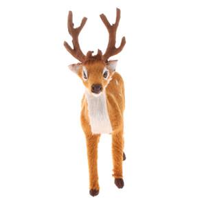 Tatil Noel Yılbaşı Dekorasyon Noel Süsleri Noel Peluş Elk Reindeer Geyik Karlı Sky