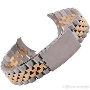 Faixa de relógio de aço inoxidável ouro Elenlog 13 mm 17 mm 20 mm pulseira de prata