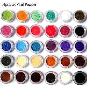 Pigmentos de mica en polvo, frasco de 10 ml o juego de 54 colores, polvos de mica nacarados naturales, tinte para el maquillaje cosmético para el jabón de uñas