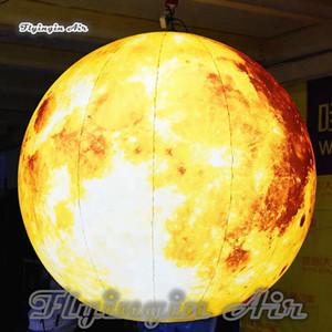 Personalisierte Multicolor aufblasbaren Ballon Customized Beleuchtung Inflatable Mond Planet Kugel luftdurchblasen für Konzert- und Party-Dekoration