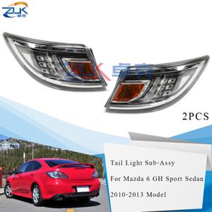 ZUK Pair Outer Heckstoßstange LED Rücklicht Rücklicht für Mazda 6 Sport Sedan Liftback GH 2010 2011 2012 2013 Auto-Rückleuchten