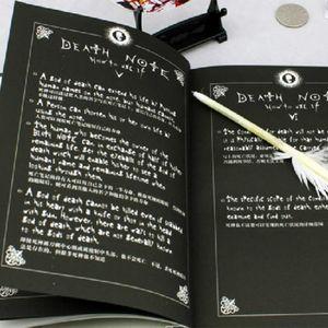 Hot Sale 데스 노트 Notebook Feather Pen Book 일본 애니메이션 필기장 저널 무료 배송, dandys