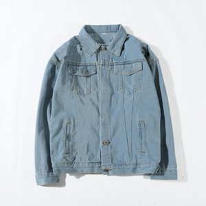 Men's Denim Jacket Fashion Designer Jacket Brand Slim Motorcycle Causal Men and Women Denim Jacket Hip Hop Vintage Style Sky Blue Denim