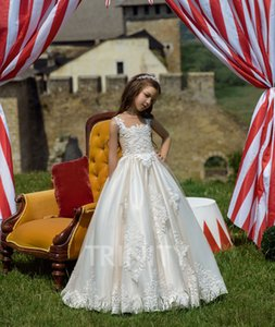 New Lovely Champagne Organza Layers Beads Flower Girl Dresses Girls' Pageant Dresses Birthday Holidays Dresses Custom Size 2-14 FF720203