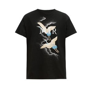 LuxuxMens Designer-T-Shirts Sommer-T-Shirt Crane Druck Designer-T-Shirt Hip Hop Mode Männer Frauen Short Sleeve Tees Größe S-XXL