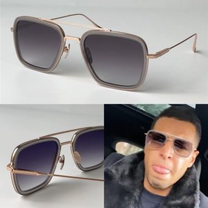 Homem novo design de moda óculos de sol 006 quadros quadrados do vintage popular em UV 400 Óculos de proteção ao ar livre