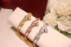 Piebald black panther diamond bracelet designer earrings bracelet necklace jewelry rings luxury mens 14k gold chains cuban link chain