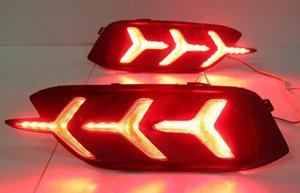Honda Civic Için 1 Takım Arka 2016 2017 LED DRL Arka Tampon kuyruk lambası sis lambası Fren Lambaları Sinyal lambası DRL reflektör