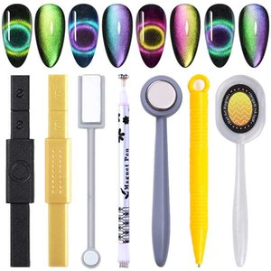 12-in-1 Cat Eyes Magnet Strong Effect Magetic Stick Board for 9D cat eyes 3D Line Strip Effect Multi-function Magnetic Pen