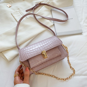 Small bag 2020 summer new mesh red crocodile buckle small square package Japan and South Korea trend of young messenger bag