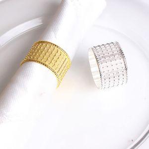 Altın Gümüş Otel için Peçete Halkaları Parlak Metal Peçete Halkaları Düğün Ziyafet Peçete Bez Halka Masa Dekorasyon