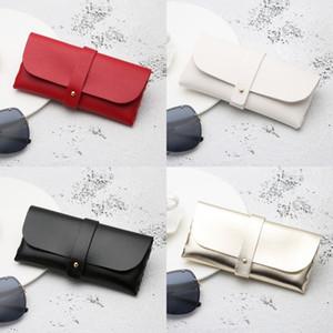 Portable leather soft bag handmade sun sun glasses box PVC leather handmade sunglasses box