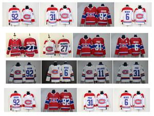 NHL 몬트리올 캐나 디 언스 저지 31 캐리 프라이스 6 시어 웨버 13 맥스 도미 15 제스 페리 코티 카니 예미 92 조나단 드루 인 100 클래식 하키 유니폼