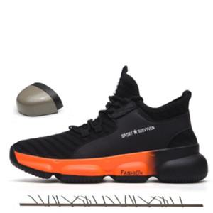 Unissex botas Designer Shoes Men Segurança do Trabalho 2019 moda de luxo Shoes Cap Toe Mulher Outdoor Aço Sneakers Indestrutível