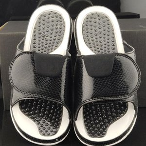 Fashion Hydro Slides Slippers Black Sandals Jumpman 11 11s Blue Black White Red Shoes Casual Slipper Size 40-45