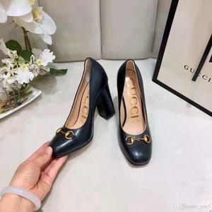 20FW 2020 pattini di autunno singoli donna del cuoio genuino naturale, pompe sexy della piattaforma tacchi alti pattini a cristallo delle donne Ufficio scarpe MADAC