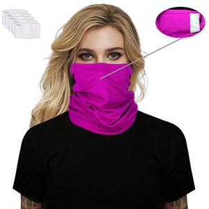 PM2.5 Magic Filter Mask Sciarpe esterna solido Viso Sciarpa Turbante collo Sun Ciclismo Bandane senza filtro fascia mascherina protettiva LJJA4073
