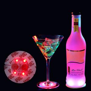 LED бутылки вина нижней наклейки стороны бар украшение EVA светой чашка дно наклейка 3M клей водонепроницаемых бутылки вино наклейка XD22956