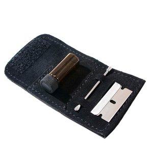 Snuff Kit Set нечто сногсшибательное Мини стекло Sniffer Snuff бутылки + PU кожа + нержавеющая сталь Клинок + Mini Metal Ложка