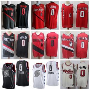 2019 Basketball jerseys Mens PortlandTrailBlazers Home Damian Lillard 0 City Damian 0 Lillard Earned Edition Stitched Embroidery Shirts
