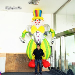 Funny Wearable Walking Inflatable Clown Marionette Puppet 3.5m Blow Up Clown Costume For Circus Parade Show