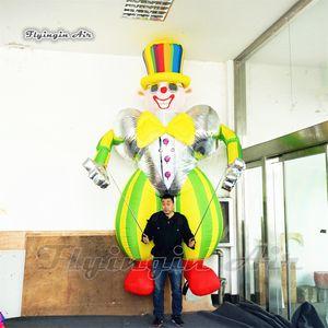 Divertente Wearable Walking gonfiabile Clown marionetta marionetta 3.5m Blow Up costume del pagliaccio per Circus Parade Chiedi