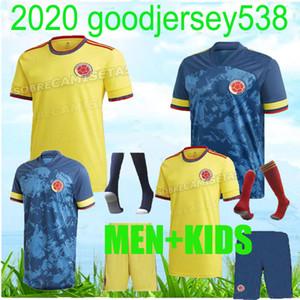 2020 2021 Colômbia casa de jérsei de futebol JAMES Football Jerseys Camisa 20 21 Homens Copa camisa de futebol américa colômbia FALCAO Camiseta de f