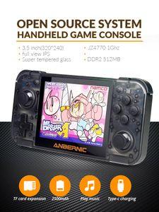 DATA FROG Retro Game Console RG350 64bit Handheld консоль 3,5-дюймовый IPS-экран Двухъядерный 16G + 128G TF аркадной игры игрока PS1
