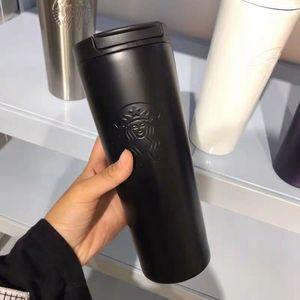 Starbucks Becher 500ml Edelstahl-Becher Flexible Becher Kaffee Tumblers Tasse Tee Reisen Tassen Tee Wein Cups