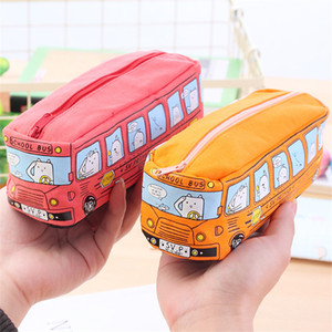 Carro Lápis Caso Crianças Dos Desenhos Animados Saco de Lápis Saco de Artigos de Papelaria Do Carro para Meninos Da Escola Meninas Saco de Lápis de Grande Capacidade