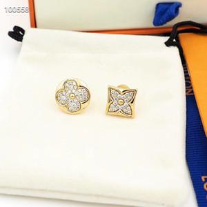 2020 aretes de acero inoxidable pendiente pendientes de diamantes de flores pendientes diseñador de la marca de moda de lujo de diseño