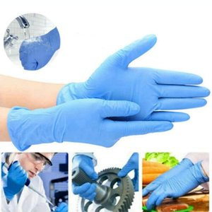 Disposable PVC Gloves 100pcs lot Elastic Rubber Gloves Household Anti Skid Cleaning Glove Rubber Housework Protective Glove OOA7910