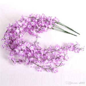 Romantik Renkli Simülasyon Sakura Yapay Lotus Sahte Mandala Kamışı Asma Garlands Tek Şube 5 Çatal Ipek Çiçekler 2 65lxb1