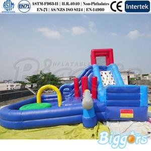 Crianças engraçado Parque exterior inflável água Slides Piscina Bouncy Castle Waterpark Jumping Deslize Para Kids Game