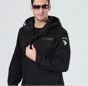 Sıcak kapüşonlu ceket etek ayarlanabilir üst 8101 kış erkekler Havadan Bölümü için taktik ceket
