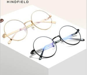 Metal Retro Flat Mirror Round Frame Glasses for Men and Women