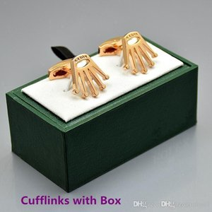 Wholesale price Rx fine Men shirt Cufflinks with Box brand jewelry Copper Cuff links for Christmas Gift