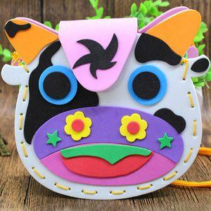 Bolsas EVA bricolaje linda bolsa de estilo de dibujos animados artes hechos a mano de costura mochilas Kinder padres e hijos juguete intelectual Actividad