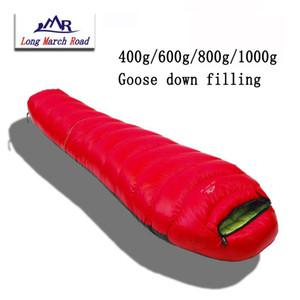 LMR Ultralight Su geçirmez Rahat Beyaz Aşağı Dolum 400g / 600g / 800g / 1000g Çanta Sac De Couchage Sleeping ek yapılabilir
