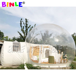 Lodge Balloon Outdoor inflatable bubble tent with private tunnel,House Camping transparent inflatable igloo tent for isolation