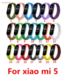 20 color Colorful Silicone Strap For Xiaomi Mi Band 5 Smart Band Replacement Strap for mi bend5 Wristband on xiaomi miband 5 Wrist Strap