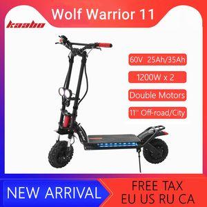 "Kaabo Wolf Warrior II 60V 35AH   26AH LG Battery Smart Electric Kick Scooter 11"" Dual Motor Hoverboard Two Wheel Foldable Skateboard"