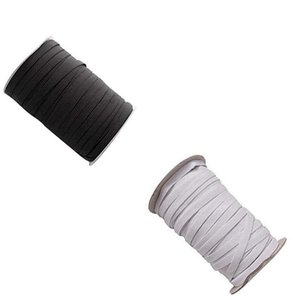 DHL Ship Fast Shipping 109 Yards Length DIY Braided Elastic Band Cord Knit Band Sewing 1 8 1 6 1 4in widely used for masks