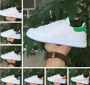 SıCAK SATıŞ Smith Rahat Ayakkabılar Ucuz Raf Simons Stan Smiths Bahar Bakır Beyaz Yeşil Siyah Moda Deri marka Kadınlar Wen Ayakkabı Boyutu 36-44