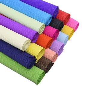 250 * 25 cm Renkli Krep Kağıt Rulo Origami Buruşuk Krep Kağıt Zanaat DIY Çiçekler Dekorasyon Hediye Ambalaj Kağıt Zanaat
